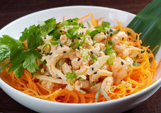 Chinese cuisine .salad of shrimp Stock Images