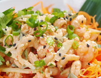 Chinese cuisine .salad of shrimp Royalty Free Stock Images