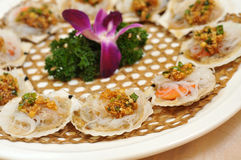 Chinese cuisine -  scallops Royalty Free Stock Photo