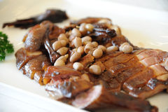 Chinese cuisine Stewed duck and peanut Royalty Free Stock Images