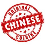 Chinese cuisine vector stamp Stock Photo