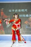 Chinese culture - dancers from Shanxi Royalty Free Stock Photography