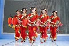 Chinese culture - dancers from Shanxi Royalty Free Stock Image