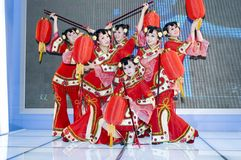 Chinese culture - dancers from Shanxi Stock Photo