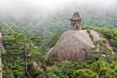 Chinese culture, Huangshan (Yellow Mountain) China, Asia. Royalty Free Stock Images