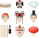 Chinese Culture Icon Cultural Elements Royalty Free Stock Photography