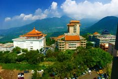 Chinese culture university in Taiwan. Aerial view of Chinese culture university in Taiwan Stock Photo