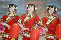 Chinese cultuur - dansers van Shanxi royalty-vrije stock foto's