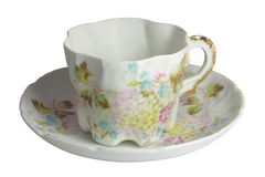 Chinese cup. Porcelain, antiquarian, Chinese cup with a saucer of the 19th eyelid, on a white Royalty Free Stock Photos