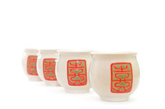 The Chinese cups. The Chinese cups on a white background Stock Photo