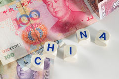 Chinese currencies. Royalty Free Stock Image