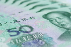 Chinese currency. Montage of Chinese currency notes Stock Images