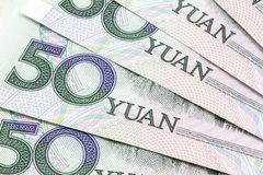 Chinese currency - 50 yuan royalty free stock photos