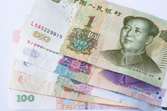 Chinese currency banknote Royalty Free Stock Photos