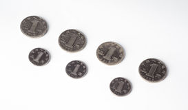 Chinese currency , coins Stock Photography
