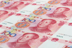The Chinese currency. The face value of 100 yuan Chinese currency Royalty Free Stock Photo