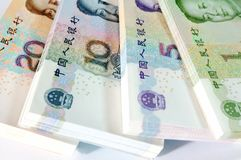 Chinese currency. Money  Yuan Coin MaoZeDong Chairman Mao Hundred Royalty Free Stock Image
