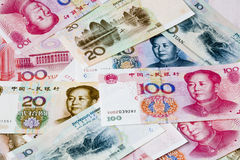 Chinese currency notes Stock Photos