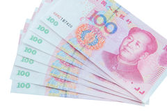 Chinese currency (renminbi) Stock Images