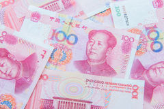 Chinese currency (renminbi) Royalty Free Stock Photos