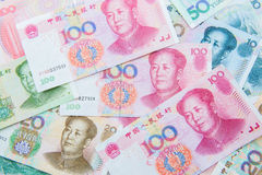 Chinese currency (renminbi) Royalty Free Stock Images