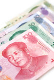 Chinese Currency. A selection of Chinese Yuan Bills Royalty Free Stock Photography