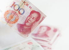 Chinese currency and visa Stock Photos