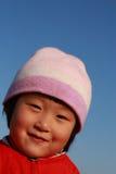 chinese cute girl winter 库存图片