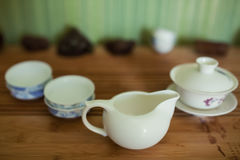 Chinese cute tea kettles set; Stock Images