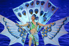 Chinese Dai ethnic dancer Stock Images