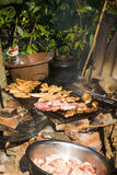 Chinese Dai people's barbecue Stock Photos