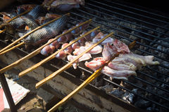 Chinese Dai people's barbecue Stock Photography