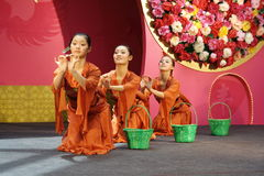 Chinese dance  2. From China, hubei college of art Stock Photography