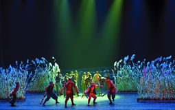 Chinese dance drama : Railway Guerrillas Stock Photo