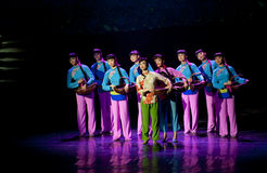 Chinese dance drama : Railway Guerrillas Stock Image