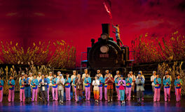 Chinese dance drama : Railway Guerrillas Stock Photography