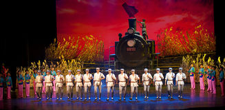 Chinese dance drama : Railway Guerrillas Stock Images