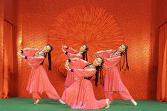 Chinese dance  3. From the experimental group, guangzhou art in China Stock Photos