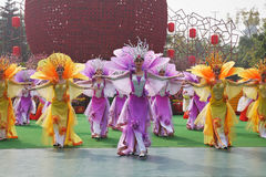 Chinese dance group that were at the concert Royalty Free Stock Photography