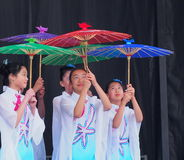 Chinese Dance Troupe Royalty Free Stock Photo