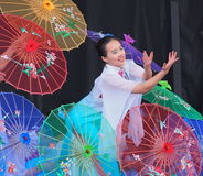 Chinese Dance Troupe Royalty Free Stock Photos