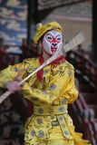 Chinese dancer. Traditional chinese dancer and acrobat performing at the summer palace in beijing Stock Images