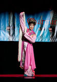 Chinese dancer performing on stage. Royalty Free Stock Photos