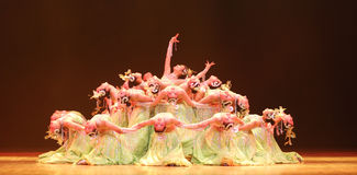 Chinese dancing Royalty Free Stock Photo