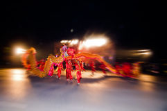 The Chinese  Dancing Dragon Stock Photos