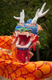 Chinese Dancing Dragon Head Royalty Free Stock Photography