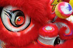 Chinese dancing lion head Stock Photography