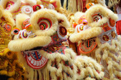Chinese dancing lion head Stock Photo
