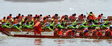 Chinese Dargon boat Royalty Free Stock Photos
