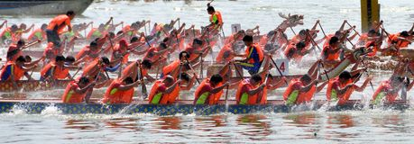 Chinese Dargon boat match Royalty Free Stock Images